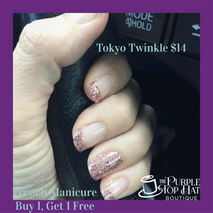French Manicure - Tokyo Twinkle