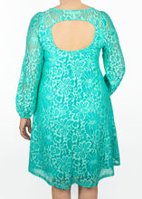 Aster Dress - Green Lace - (1X)