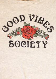 Paisley Raye Graphic Tee - Good Vibes - (2X)