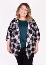 Shacket - Black & White Plaid - (3X)