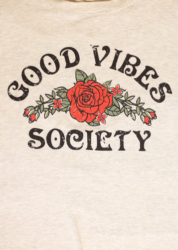 Paisley Raye Graphic Tee - Good Vibes - (1X)