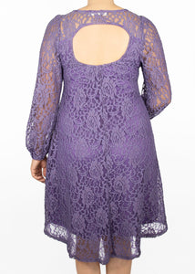 Aster Dress - Purple Lace - (M)