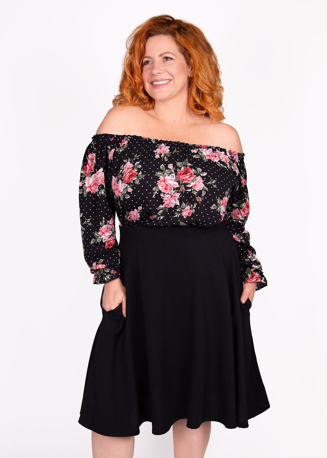 Bloom Skirt - Black - 1X