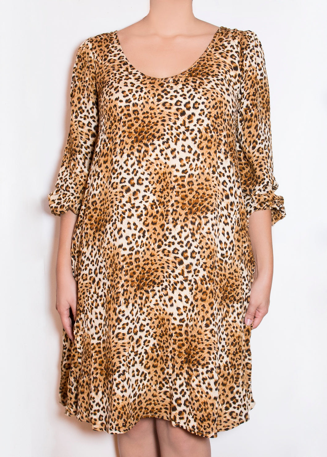Aster Dress - Cheetah Print - (S)