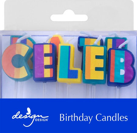 Celebrate Stripes Birthday Candles