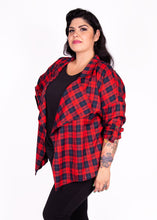 Shacket - Red & Navy Plaid - (2X)