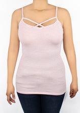 Criss Cross Cami - Red and White Stripe - (M)
