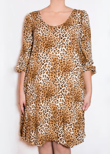 Aster Dress - Cheetah Print - (XL)