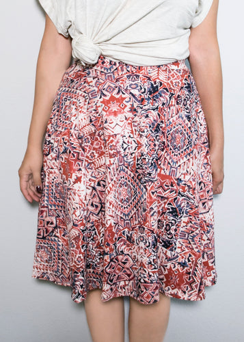Bloom Skirt - Aztec Print- XS