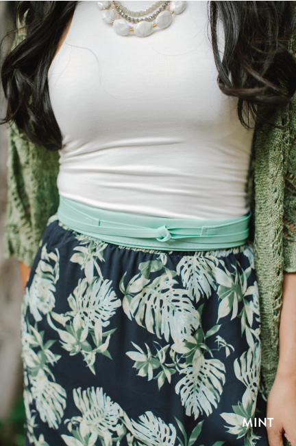 Mint Cinch Belt