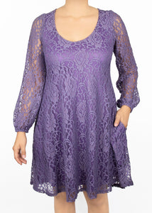 Aster Dress - Purple Lace - (0X)