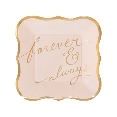 Forever and Always Dessert Plates