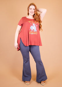 Paisley Raye Ginger Pant - Denim Blue - (L)