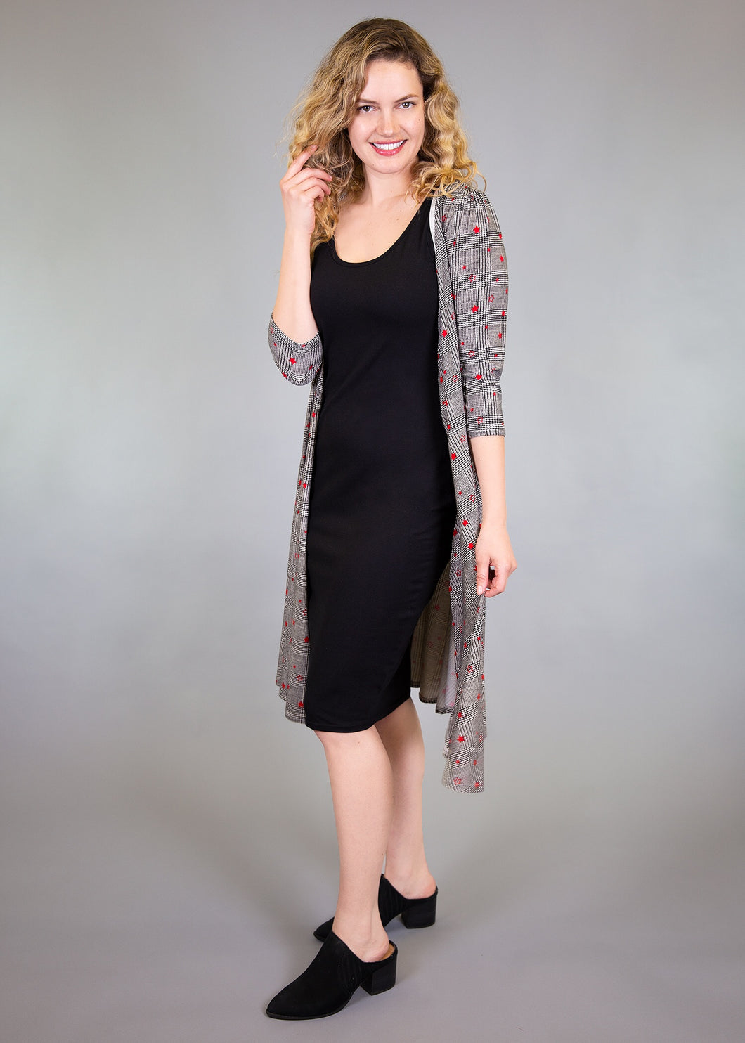 Petunia Wrap Dress - Star Plaid - (M)