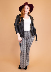 Paisley Raye Ginger Pant - Glen Plaid - (2X)