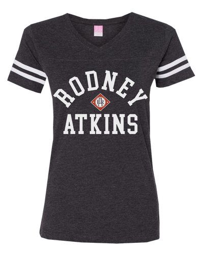 Women's Football V-Neck T-Shirt