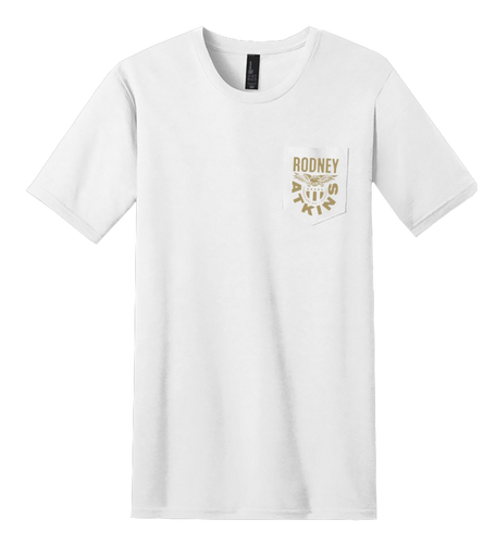 Rodney Atkins White Pocket Tee