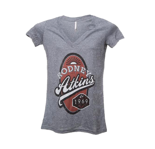 Rodney Atkins Gray V-Neck