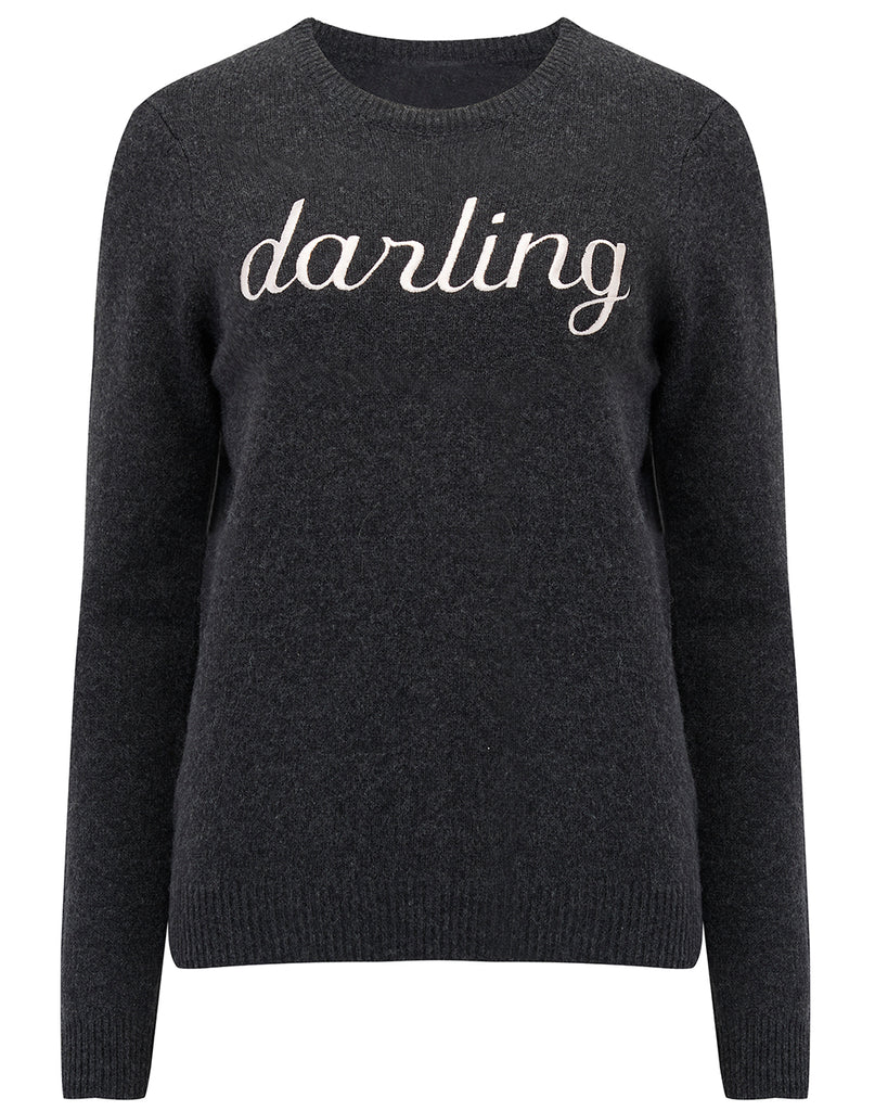'darling' Lambswool Sweater in Charcoal