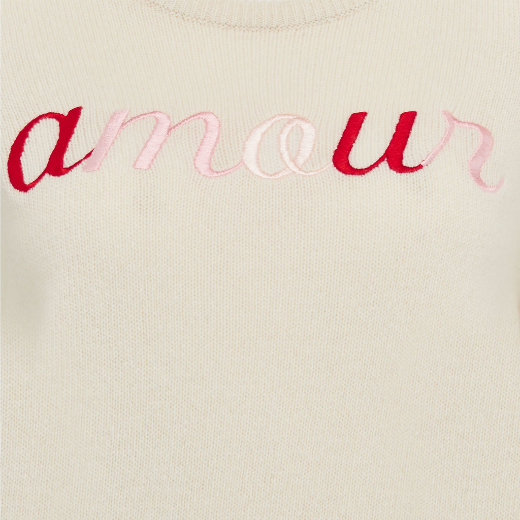 'amour' Lambswool Sweater in Cream