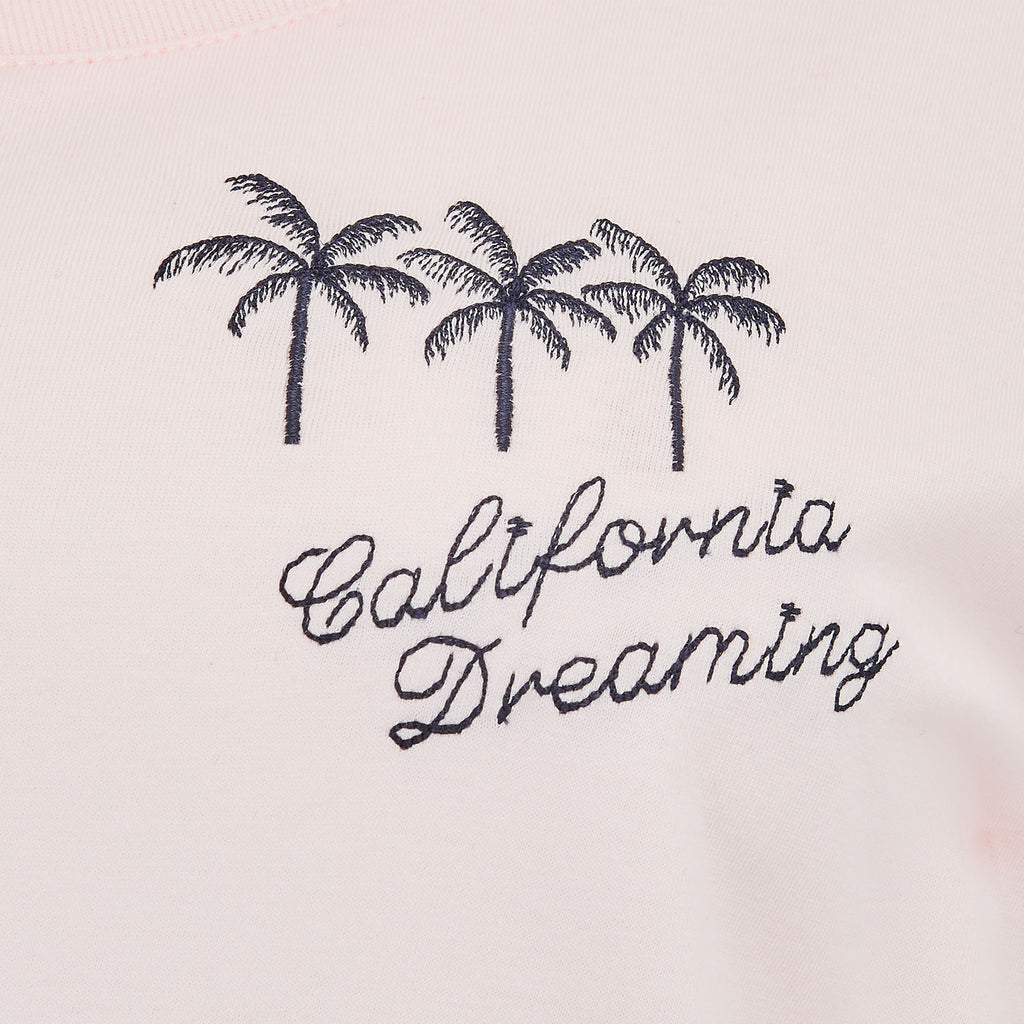 'California Dreaming' Baby Pink Ladies Fit Tee