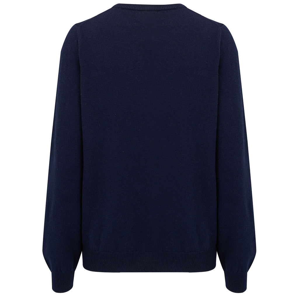 'Le Freak C'est Chic' Cashmere & Merino Sweater in Navy