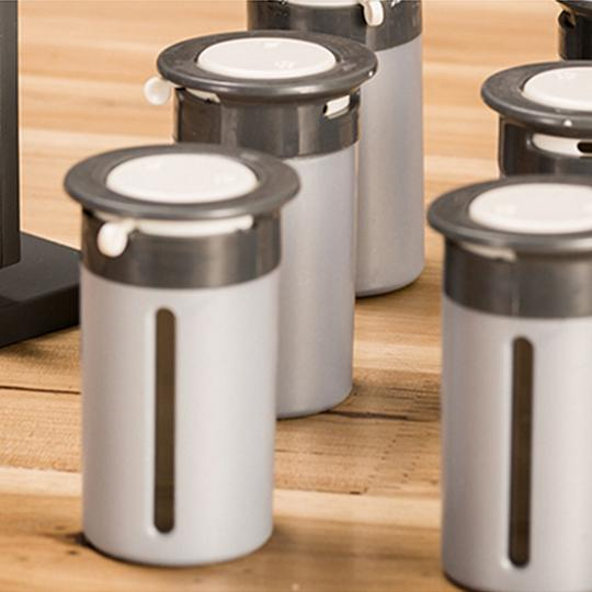 Gravity 6-Canister Magnetic Spice Stand - SOGO-LIFE