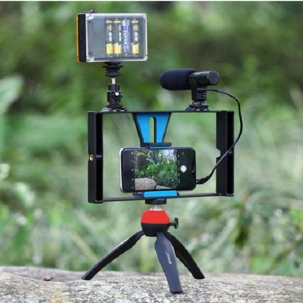Hand-held Smartphon Video shock-absorbing stabilizing brackete