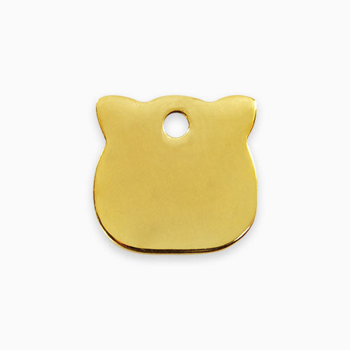 Brass Tag Cat Head