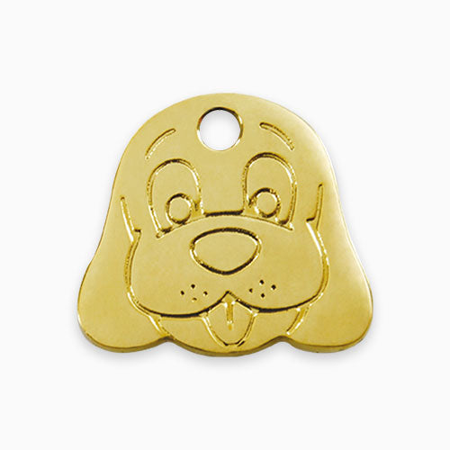 Brass Tag Dog Face