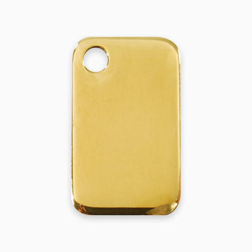 Brass Tag Rectangular