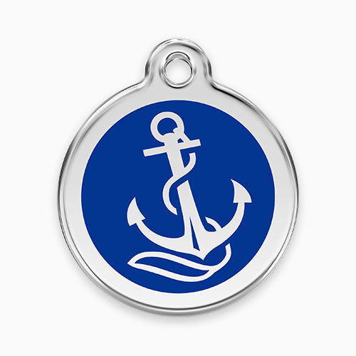 Enamel Tag Anchor Dark Blue