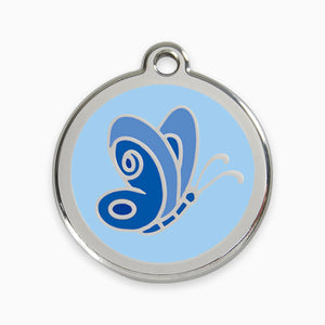 Enamel Tag Butterfly (3 colours)