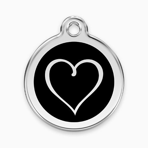 Enamel Tag Tribal Heart (11 colours)