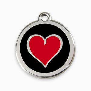 Enamel Tag Heart (3 colours)