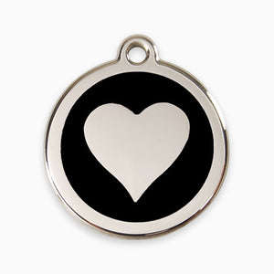 Enamel Tag Love Heart (11 colours)