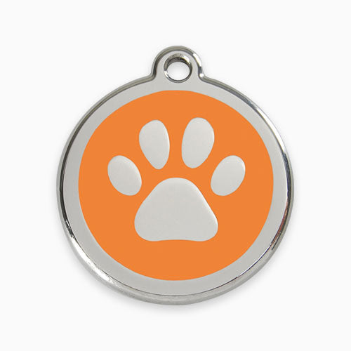 Enamel Tag Paw Print (11 colours)
