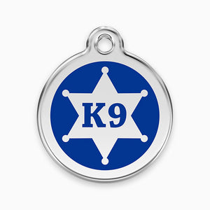 Enamel Tag Sheriff K9 (2 colours)