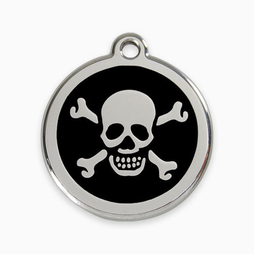 Enamel Tag Skull & Cross Bones (11 colours)