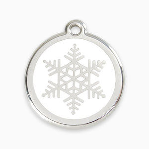 Enamel Tag Snow Flake