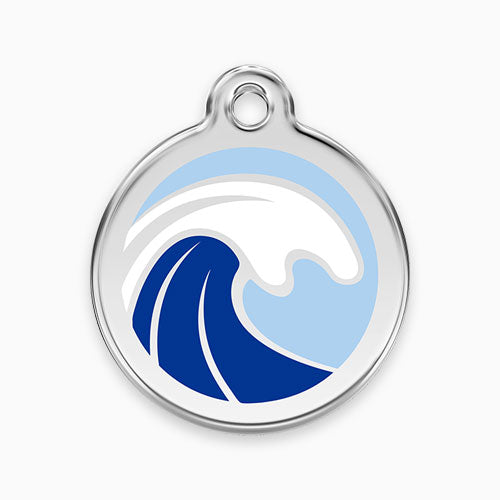 Enamel Tag Wave