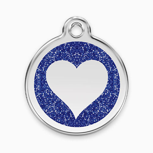 Glitter Enamel Tag Heart (7 colours)