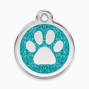 Glitter Enamel Paw Tag (7 colours)