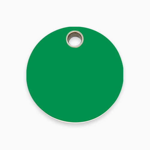 Plastic Tag Circle (10 colours)
