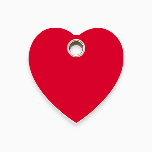 Plastic Tag Heart (10 colours)