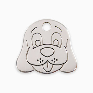 Stainless Steel Tag Dog Face
