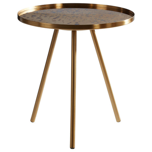 Gold Finish Side Table