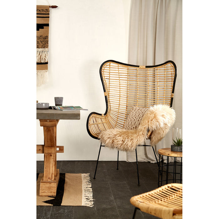Rattan & Black Chair