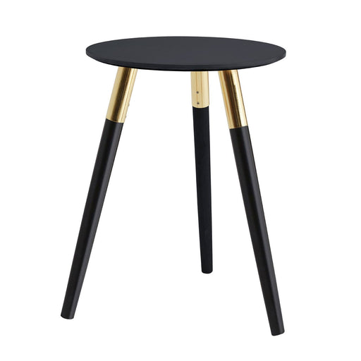 Black & Gold Side Table