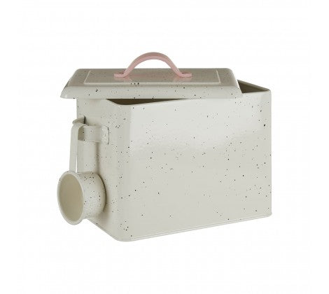 Speckled Metal Detergent Canister With Scoop